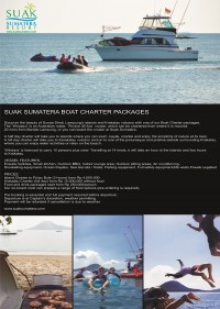 Suak Sumatera Boat Charter Packages